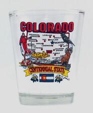 COLORADO STATE ELEMENTS MAP SHOT GLASS SHOTGLASS