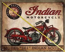 Indian Motorcycles banner model poster vintage logo frame tank wheel display usa