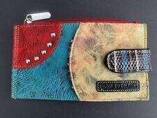 Cirque Du Soleil Leather Multicolor and Texture Wallet NWOT