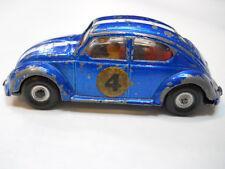Vintage Mini Marx VW Bug Super Speed Car Volkswagen Race Car Blue White Stripe