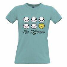 Novelty Womens TShirt Be Different Cartoon Sheep Slogan Lion Weird Unique