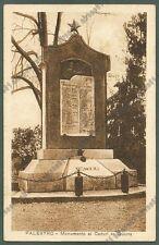 PAVIA PALESTRO 16 MONUMENTO ai CADUTI Cartolina viaggiata 1930
