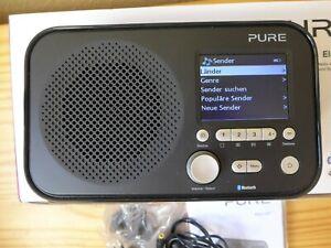Pure Elan IR5 Schwarz Portabl. Internetradio Bluetooth Spotify Connect neuwertig