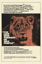 THE LION WHO THOUGHT HE WAS PEOPLE Movie POSTER 27x40 B Bill Travers Virginia