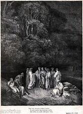 INFERNO:LIMBO: OMERO,ORAZIO,OVIDIO,LUCANO.Gustave Doré.Dante.Divina Commedia.188