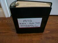 Vintage MTD Riding Mower-Garden Tractor Illustrated Parts Listing/Service Manual