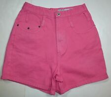 *NWT* COTTON EXPRESS WOMENS LADIES NEON PINK DENIM SHORTS SIZE 11/12 J56