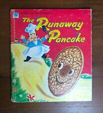 Vintage Whitman Tell-a-Tale book THE RUNAWAY PANCAKE Ben Williams 1956