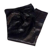 Gerard Darel Black Lambskin Leather Relaxed Cropped Pants Women's Sz 42