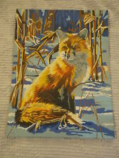 """Paint by Number Style Print of Wolf in Woods (9""""X 12"""")"""