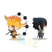 2pcs/set Naruto Uzumaki Naruto Uchiha Sasuke Mini Figure Model Kids Gift No Box