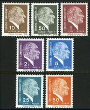 """Turkey 2065-2073,MI 2446-2452,MNH.Kemal Ataturk. Imprint """"TIFDRUK-ISTANBUL 1978"""""""