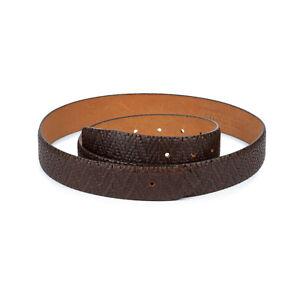 Brown Leather Belt Strap For Ferragamo Replacement Without Buckle Luxury Design