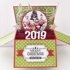 Photo & name personalised Handmade Funny Christmas Card, Merry Christmas Cards