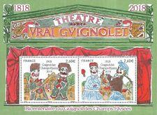 """Frankreich Mi.Nr. Block 391** (2018) postfrisch/Puppentheater """"Vrai Guignolet"""""""