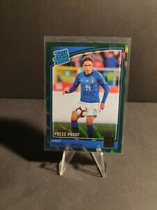 Panini Donruss Soccer 2018/19 - Federico Chiesa GREEN Press Proof Rated Rookie