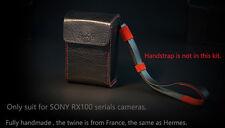 Brofeta SONY RX100 V IV III II M5 camera leather bag case. Handmade RX100V