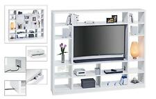 Raumteiler mit Cableboard Regal Standregal TV-Regal Mod.MJ167 Weiß