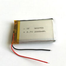 3.7V 2000mAh LiPo polymer cells Battery For PAD GPS Tablet PC Power bank 903759