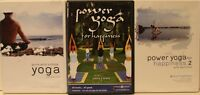 3 Eoin Finn yoga workout DVD lot pure and simple & Power for happiness vol 1 & 2