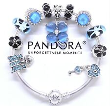 Authentic Pandora Charm Bracelet Silver Bangle Love Family Heart European Charms