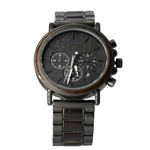 Montre en bois homme Eloua luxe chronographe cadeaux