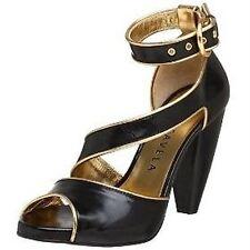 New Gigi Favala Women's Krystal Black Sandal Shoes 36 Size 6 US Heels Strap
