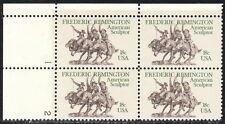US #1934 18¢ Frederic Remington Plate Block MNH