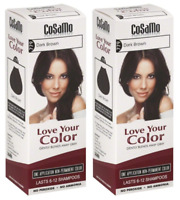 CoSaMo Hair Color #779 Dark Brown - Compares to Clairol Loving Care #79 (2 Pack)