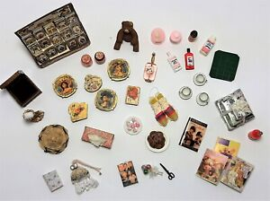 Assorted Lot of Artisan Dollhouse Miniatures
