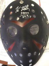 Jason Voorhees RARE Black Mask Signed By Kane Hodder Inscribed Jason 7,8,9,X