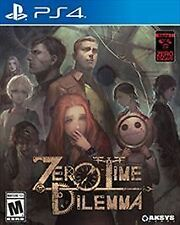 Zero Time Dilemma Sony PlayStation 4 PS4, 2017 Brand New Factory Sealed