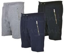Mens Jogging Popcorn Texture Shorts Bottoms Zip Pokcets  S -XXL