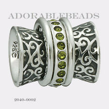 Authentic Chamilia Siena Collection Sterling Silver Verde Palazzo Bead 2040-0002