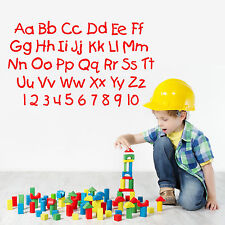 ALPHABET AND NUMBERS nursery letters childrens room VINYL WALL ART STICKER DECAL