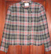 Pendleton P 16 M Vintage Jacket Blazer Coat 100% Wool Gray Plaid Asymmetric Fall