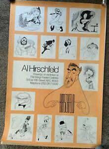 Vintage Poster Al Hirschfeld Exhibition 1974 New York Caricature (45x31-approx)