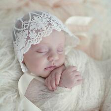 Infant Newborn Baby Girls Kids Lace Floral Hat Cap Beanie Bonnet Hats Photo Prop