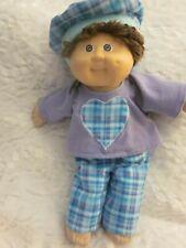 CPK doll clothes/16-18 inch/plaid pants/purple flannel top/plaid hat