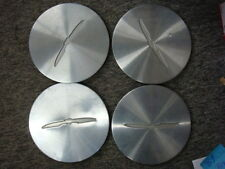 89-92 Ford Thunderbird Factory OEM Machine Wheel Center Caps SET OF FOUR