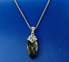 Charles Krypell Skye Collection Designer Sterling Silver Black Hematite Necklace