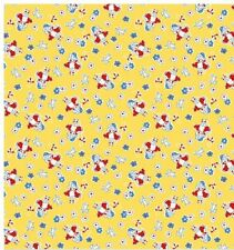 HALF METRE RETRO YELLOW BO PEEP & LAMB QUILTING FABRIC TOY CHEST 2 BY PENNY ROSE