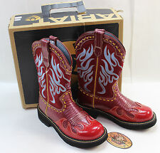 New Ariat Fatbaby Red Thunderbird # 16311 Western Boots Size us 7B Women's flame