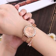 Women Fashion Glass Watch Eiffel Tower Stainless Steel Crystal Quartz Wristwatch