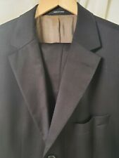 HUGO BOSS Scorsese/Movie Suit Men's 46R 40x30 Brown Pinstripe Super 120 Wool