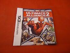 Marvel Ultimate Alliance 2 Nintendo DS Instruction Manual Booklet