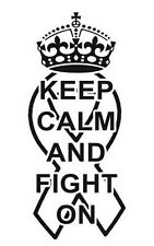 Decal Vinyl Truck Car Sticker - Cancer Ribbon Keep Calm And Fight On