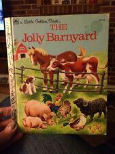 The Jolly Barnyard a Little Golden Book (1950) Vintage Hardcover