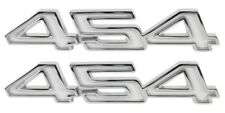 """70-74 Chevrolet Chevy Impala """" 454 """" Front Fender Emblem Set -Made in USA New"""