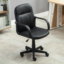 Modern Office Executive Chair PU Leather Computer Desk Hydraulic Black With Gif%